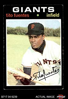 1971 Topps # 378 Tito Fuentes San Francisco Giants (Baseball Card) Deans Cards 5