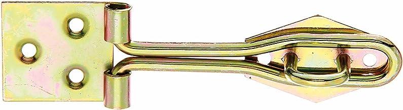 GAH-Alberts 348229 overval met lus van opgerold draad, galvanisch geel verzinkt, 120 x 31,5 mm