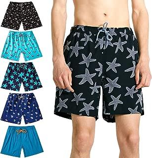 Mens Swim Trunks,Quick Dry Men Beach Short,Stretch Swimming Trunks Mesh Lining