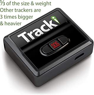 Tracki 2019 Model Mini Real time GPS Tracker. Full USA & Worldwide Coverage. For Vehicles, Car, Kids. Magnetic Hidden small Portable Tracking Device. Child, elderly, Dog pet drone motorcycle bike auto