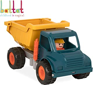 Battat -  Dump Truck with Working Movable Parts and 1 Driver – Construction Vehicle Toy Trucks for Toddlers 18m+