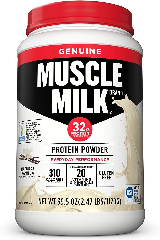 Muscle Milk Genuine Protein Powder Natural Super popular specialty store 32g Industry No. 1 Vanilla