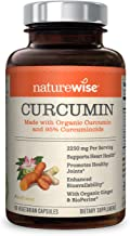 NatureWise Curcumin Turmeric 2250mg   95% Curcuminoids & BioPerine Black Pepper Extract   Advanced Absorption for Cardiovascular Health Joint Support   Gluten Free Non-GMO [1 Month Supply - 90 Count]