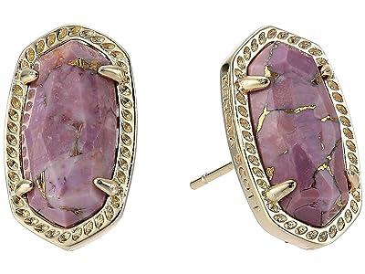Kendra Scott Ellie Earring (Gold/Bronze/Veined Lilac) Earring
