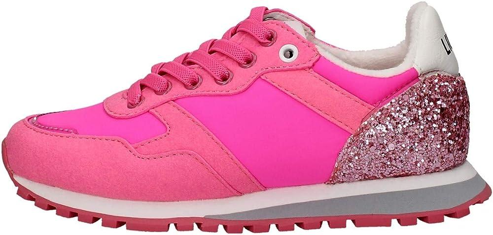 Liu jo jeans,scarpe sportive per donna,sneakers,in tessuto e pelle sintetica 4XX793 TX083