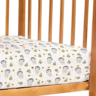 Petit Clouds Freddy the Teddy -100% Pure Organic Cotton 200 TC cot sheet (flatsheet). Fits all standard size baby/toddler ...