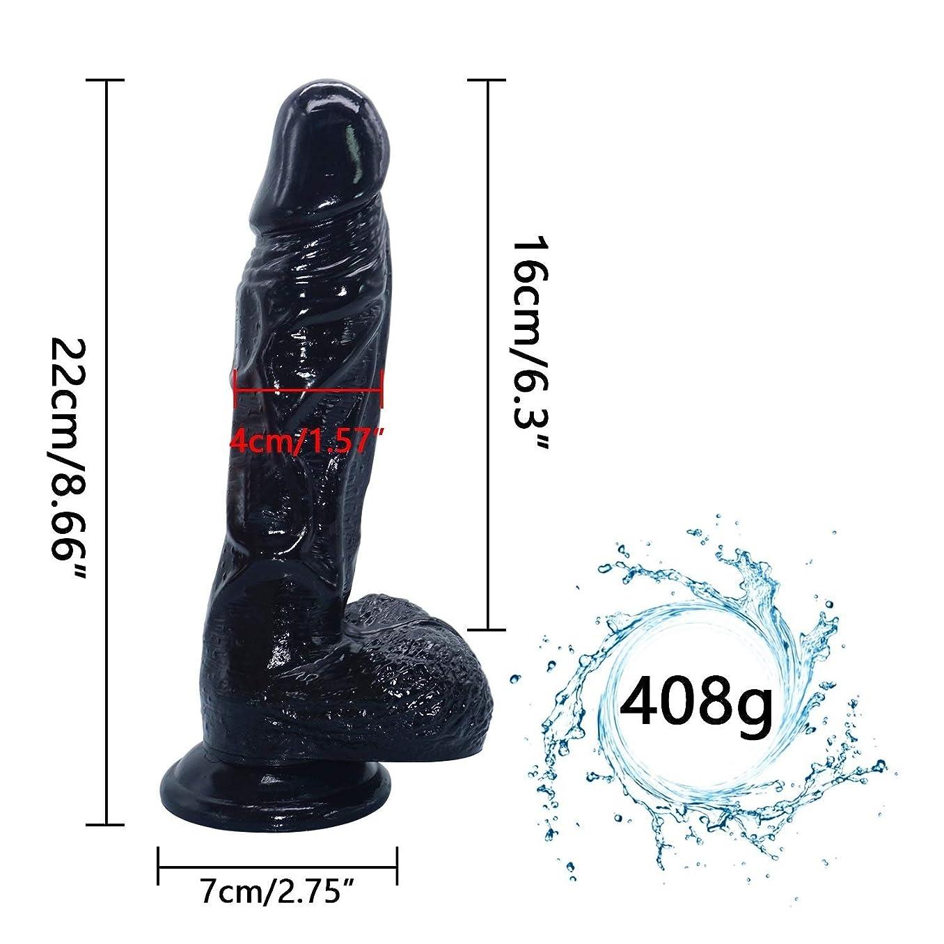 夫婦完全にサンダースChenXiDian 8.86インチの巨大な親密な初心者現実的な防水黒肉滑らかなテクスチャシャフト????????????ラバーソロプレイBackdoorMassager Veinedスティック柔軟な浸透-抗菌、より優れたStrongSuctionCup 本当の感触