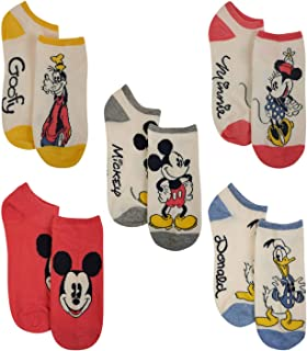Disney womens Disney Classic 5-pack No Show Socks