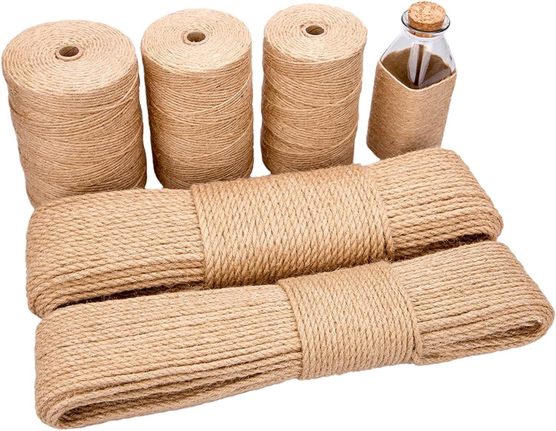OSHA HJWMM Natural Jute Rope Hand Max 57% 2021 model OFF Strong Weaving Mu Thick