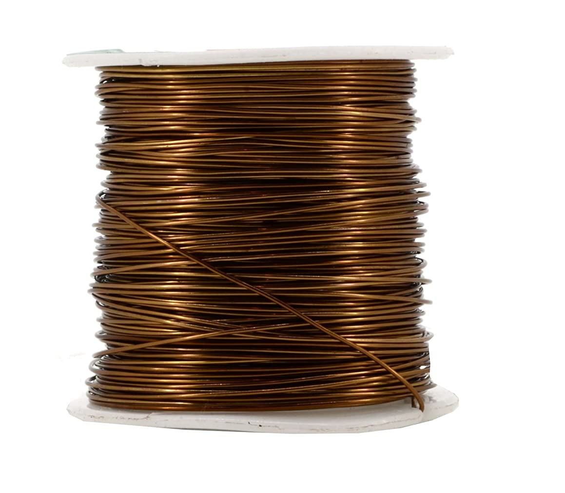 Mandala Crafts Anodized Aluminum Wire for Sculpting, Armature, Jewelry Making, Gem Metal Wrap, Garden, Colored and Soft, 1 Roll(20 Gauge, Brown)
