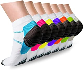 Compression Socks Plantar Fasciitis for Women Men - 8-15 mmHg Best for Athletic,Support,Flight Travel,Nurses,Hiking