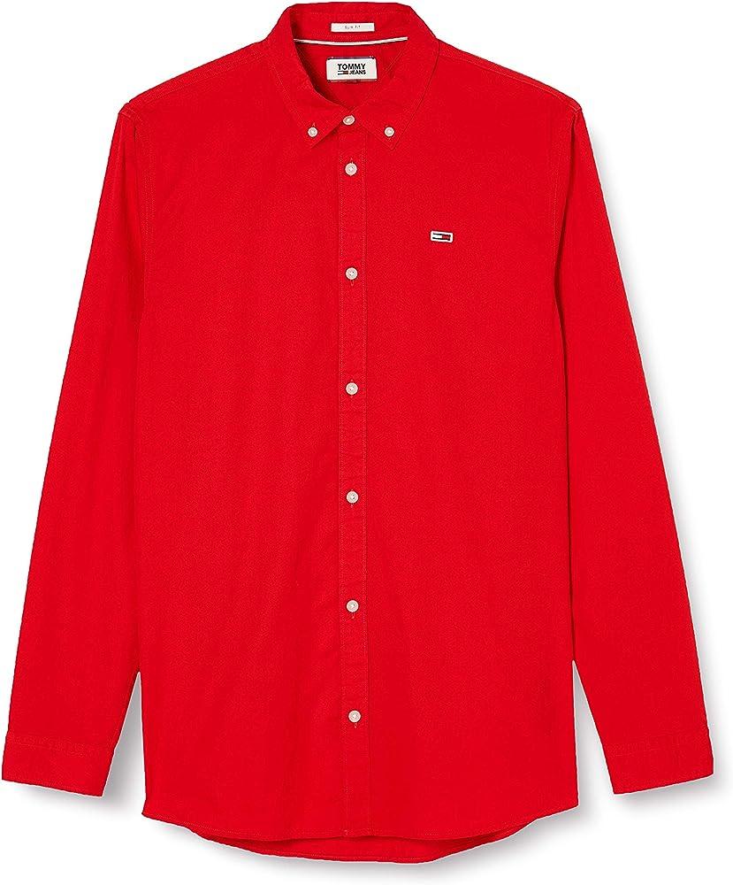 Tommy hilfiger tjm light twill shirt ,camicia per uomo,100 % cotone DM0DM07504CBK