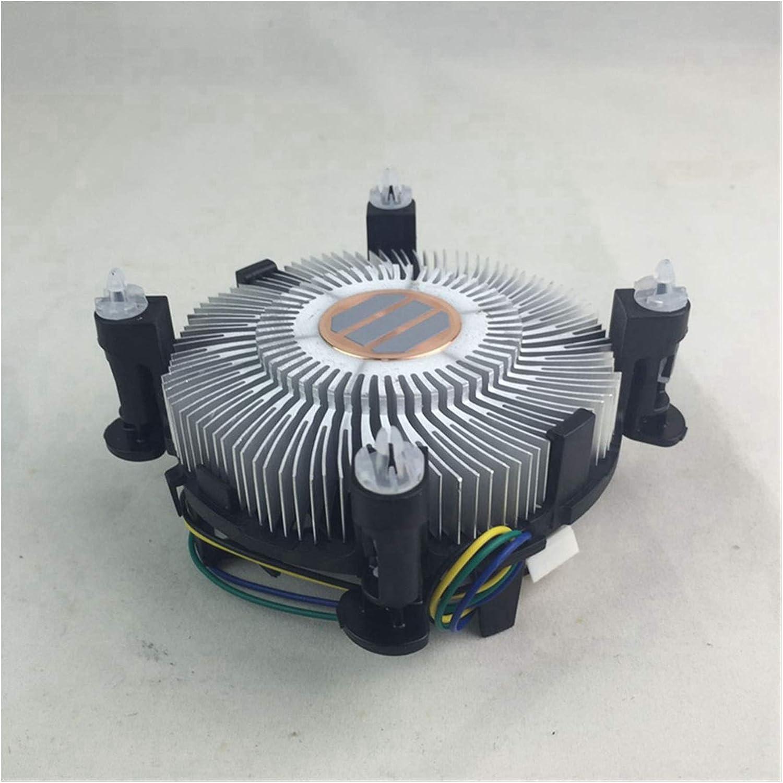 Tranquilo Cooler CPU para LGA 1155 Hotik Cobre, con Ventilador De CPU De 90 Mm I3 / I5 / I7 LGA 1156/1151/1150 Radiador Fácil de Transportar e Instalar