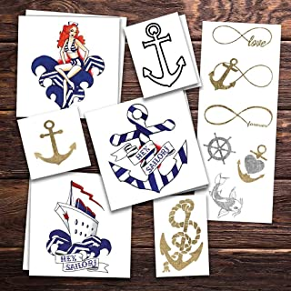 Hey Sailor Temporary Tattoos | Skin Safe | MADE IN THE USA| Removable