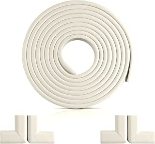 Baby Safety Corner Guards, Edge Guard Protector Bumper 6.6FT with 4 Corner Cushions NBR Foam for Furniture Table Child Proof