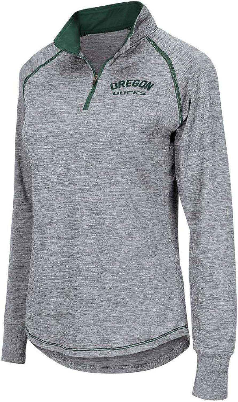 Womens Oregon Ducks Bikram Long Sleeve Quarter Zip Shirt