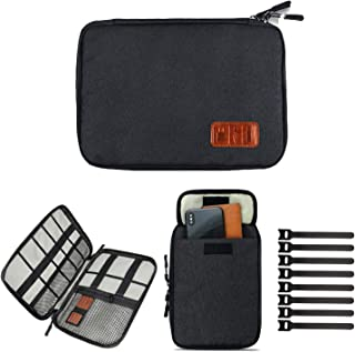 Cable Organizer Bag Travel Electronics Accessories Carry Case Portable Cord Organizer Bag for USB Cable Cord Pen Hard Cabl...