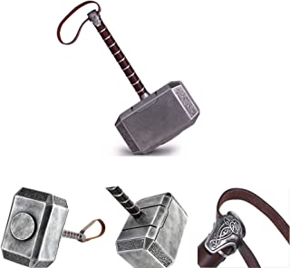 Mastergoswords 2019 Avengers Thor Mjolnir Resin Hammer Collectible 1:1 Replica Cosplay Costume Prop Toy (Without Standing Base)