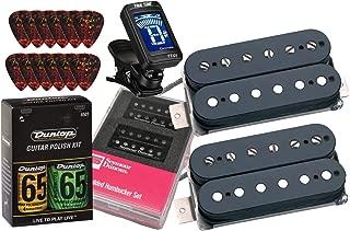 Seymour Duncan Hot Rodded Humbucker Matched Guitar Pickup Set with True Tune Tuner, Dunlop Care Kit, Fender Picks SH-4b