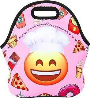 Violet Mistネオプレンランチバッグトートバッグ再利用可能な断熱防水学校ピクニックキャリーコンテナグルメ弁当箱オーガナイザーメンズ、レディース、大人、子供、女の子、男の子 COMIN18JU082664
