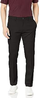 Haggar Men's Premium No Iron Khaki Slim Fit Flat Front Casual Pant