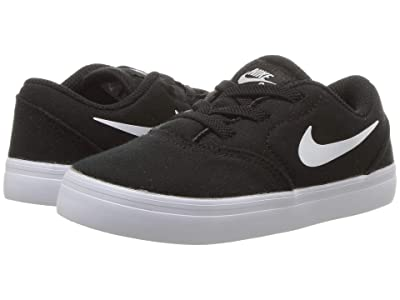 Nike Kids Check Canvas (Infant/Toddler) (Black/White) Boys Shoes