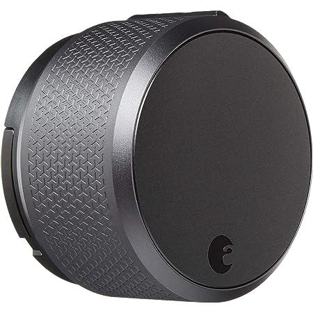 August AUG-SL03-M03-G03 Dark Gray Smart Lock Pro, 3rd Generation Technology, Apple HomeKit and Z-Wave Enabled