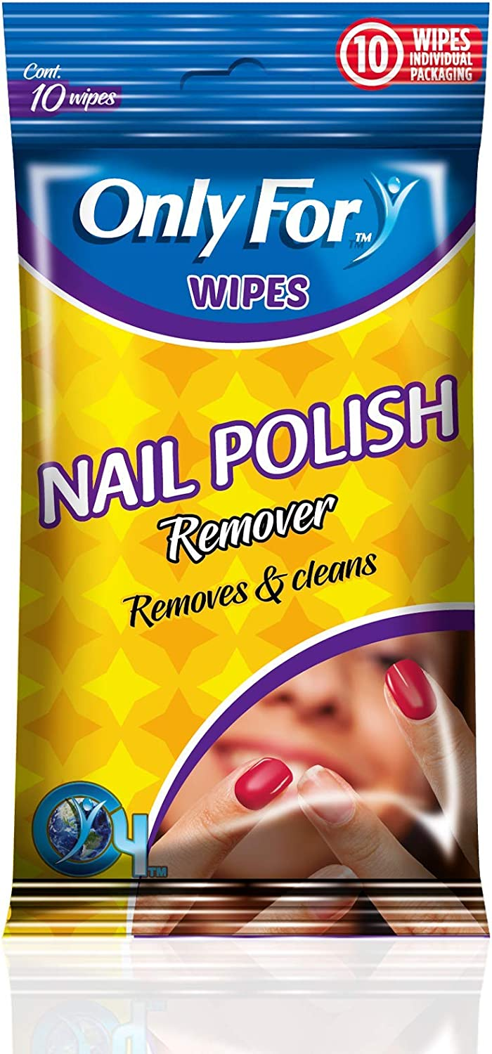 Only For famous Nail Polish Remover Wipes 1 year warranty - x Pac Pack Individual 10