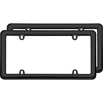 Cruiser Accessories 20642 Nouveau Two Frame Valu-Pak License Plate Frames Black Plastic