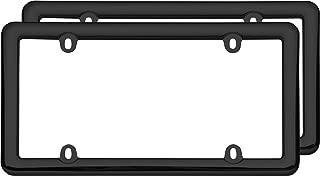 Cruiser Accessories 20642 Nouveau Two Frame Valu-Pak License Plate Frames, Black Plastic