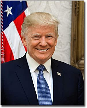 United States President Donald Trump Official 2017 Portrait 8x10 Silver Halide Photo Print