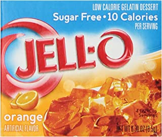 JELL-O Orange Sugar Free Gelatin Dessert Mix (0.30 oz Boxes, Pack of 6)