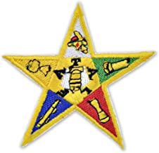 Order of The Eastern Star Embroidered Masonic Patch - 3