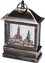 "Konstsmide LED Snow Globe Lantern""Christmas Market Scene""/Christmas Lantern Warm White Diode/Transformer or Battery 3xC 1...."