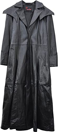 tienda de pescado para la venta El celibato 32024866.008M hombres chaqueta de cuero longitud de de de cuero de cabra pantorrilla abrigo con Knopfleiste-, M grande, negro  marca en liquidación de venta