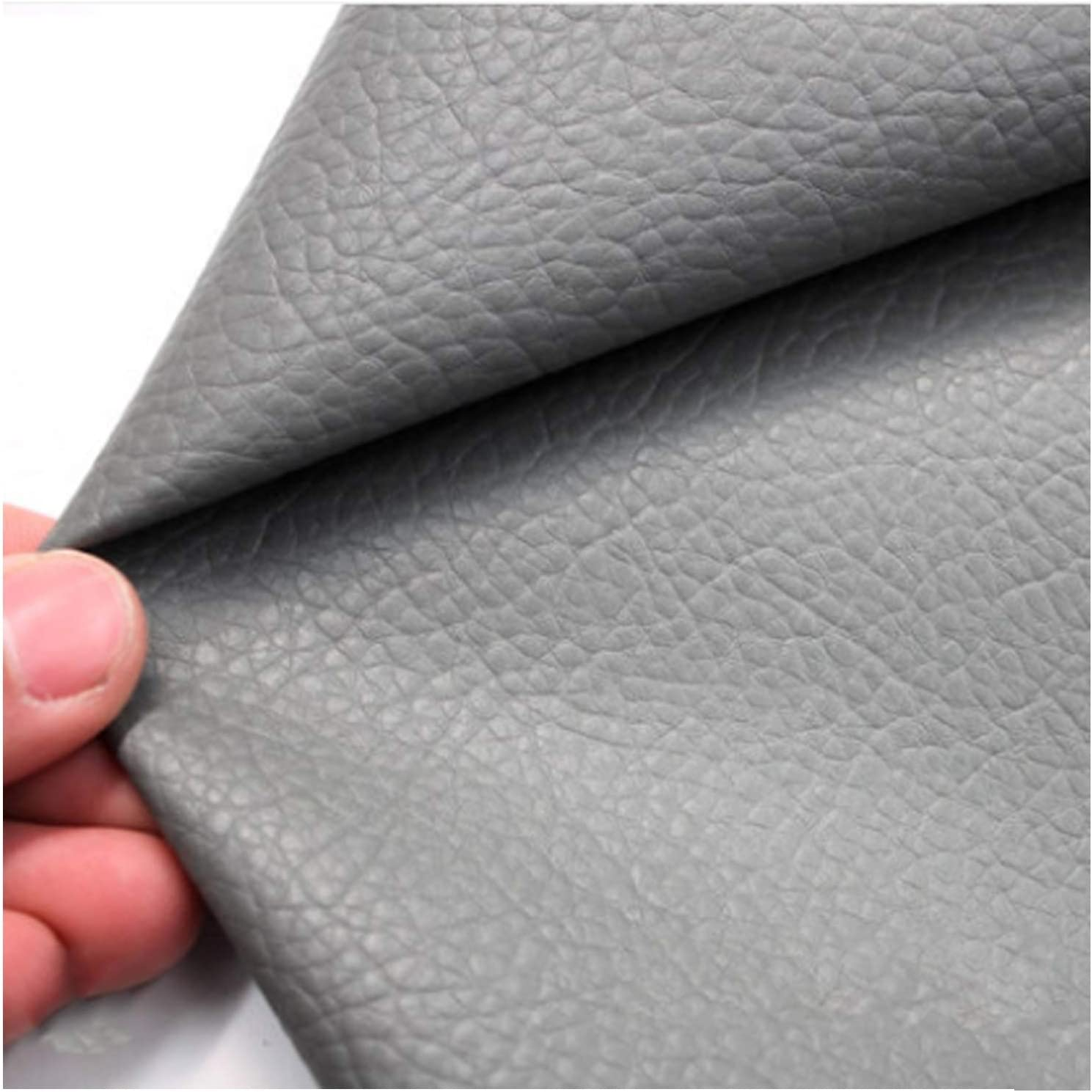 YANGUANG Leatherette Max 85% OFF Faux Outstanding Leather Fabric Texture Litchi Grain Le