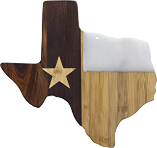 Totally Bamboo Rock & Branch Series Republic of Texas State Shaped Serving Board, 14