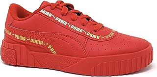 حذاء رياضي نسائي خفيف من PUMA للفتيات الصغيرات Cali - أحمر