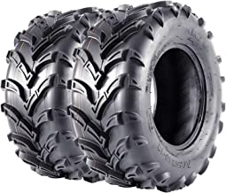 VANACC ATV Tires 25x10x12 UTV Tire 25 inch 25x10-12 6PR Set of 2