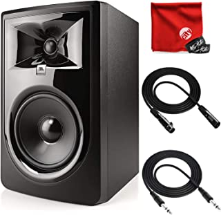 JBL Professional 306P MkII Next-Generation 6-Inch 2-Way Powered Studio Monitor Bundle with Mophead 10-Foot TRS Cable, 10-F...