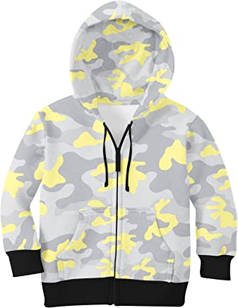 colord Camouflage Kids Zip Up Hoodie Unisex