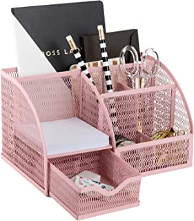 Light Pink Desk Organizer - Cute and Girly Pink Desk...