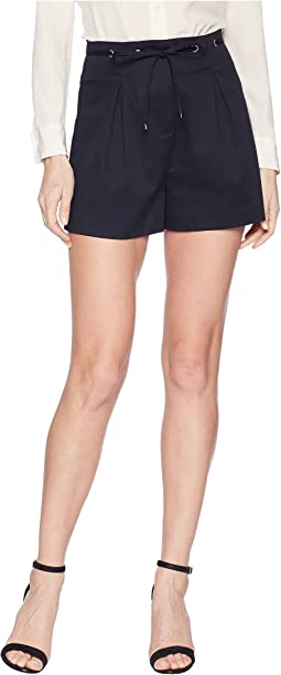 Eyelet Detail Pleated Shorts