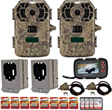 Stealth Cam 2020 G42NG 24MP Trail Cameras 2-Pack with Ready-to-Deploy Field Accessory Bundles and Image/Video Viewer. No-Glow Flash, 100-Ft. IR Range, Kryptek Camo, HD Video (19 Items)