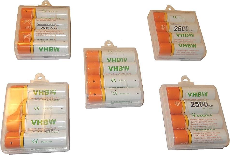 20 Pilas/Baterías vhbw AA Mignon HR6 LR6 2500mAh para Fujifilm FinePix S3000 S3200 S3250 S3300 S3350 S3400 S3450 S3500 S3900 S4000 S4050
