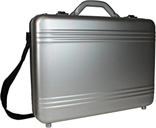 World Traveler European-style Aluminum Silver Laptop Attache Case, One Size
