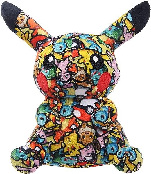 Pocket Monster Pikachu Cartoon Anime Plush Doll Stuffed Animal Toy Cloth Print Pillow Color1