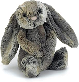 Jellycat Bashful Woodland Bunny Stuffed Animal, Medium, 12 inches