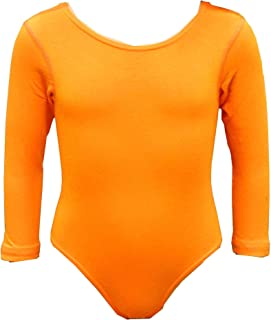 Girl's Cotton Round Neck Long Sleeve Leotard/Bodysuits for Toddler Girls Ballet Dance