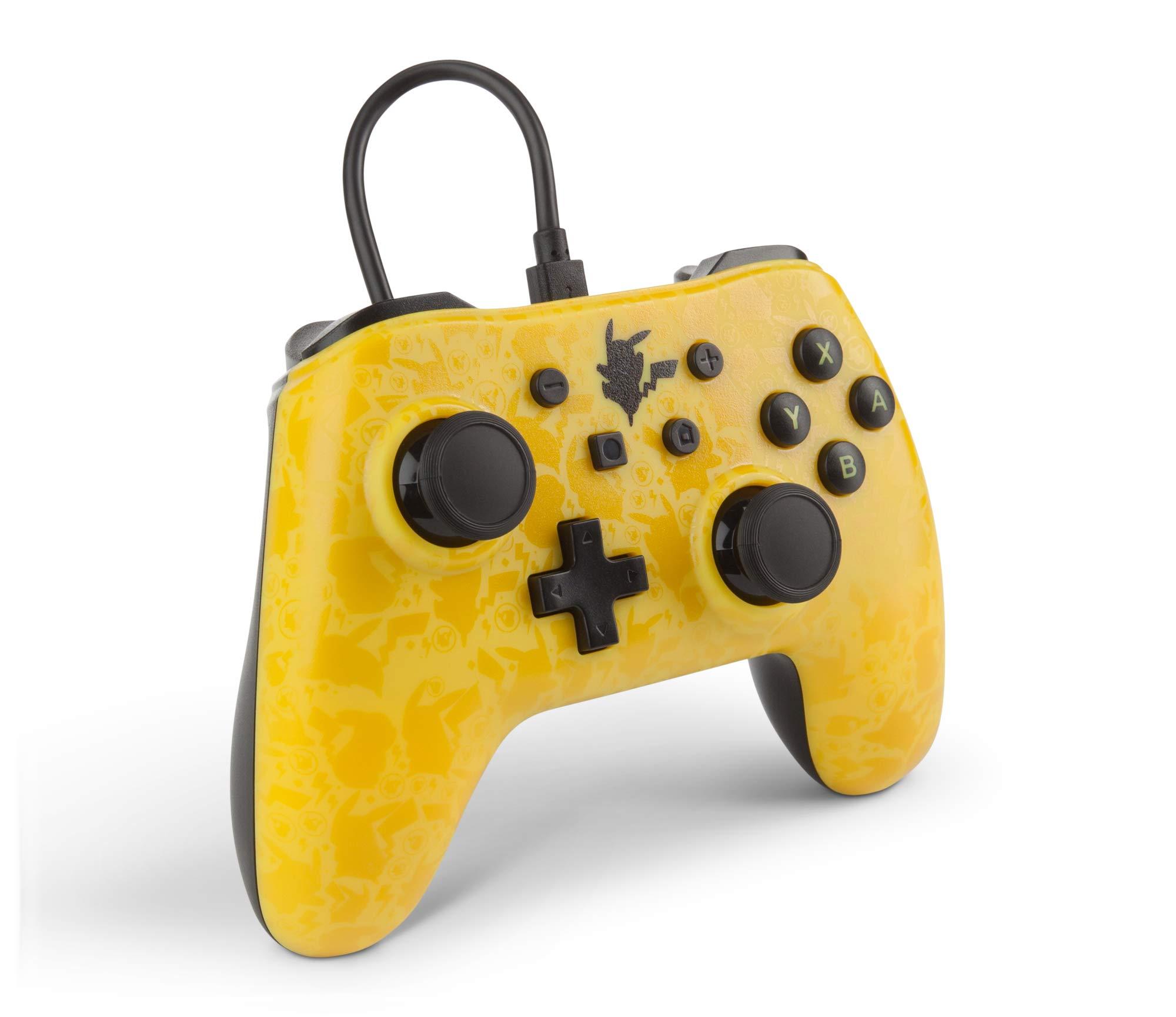 Mando con cable PowerA Pokémon para Nintendo Switch. Silueta de Pikachu: Amazon.es: Videojuegos